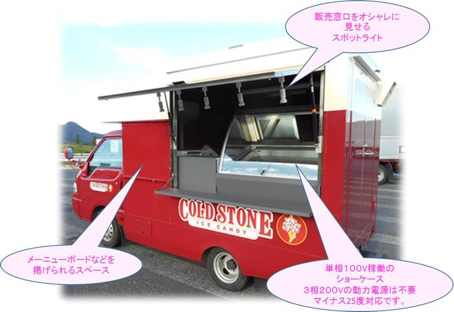 1tロングキッチンカー 移動販売車