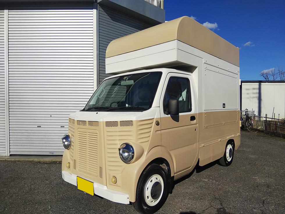 スズキ キャリイトラック  フレンチトラック移動販売車 キッチンカー シトロエンマスク